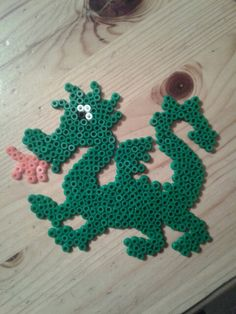 Dragon perler beads by Machele Schouten-Wouters