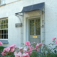 For your front door porch, Garden Requisites offer porch designs in steel. Bespoke metal porches available - Victorian porches and porch canopy designs. Door Canopy Porch, Awning Canopy, Diy Canopy, Door Canopy Iron, Ikea Canopy, Canopy Curtains, Fabric Canopy, Backyard Canopy, Garden Canopy