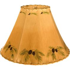 Unique Lamp Shades For Sale | Pinecones Rawhide Lamp Shade - NC Rustic