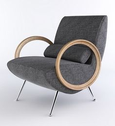 Grey Lounge Armchair