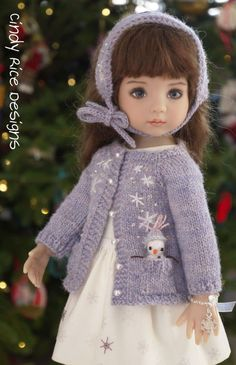 """""""Surprise it's a Snowgirl!"""" hand made ensemble for Dianna Effner's Little…"""