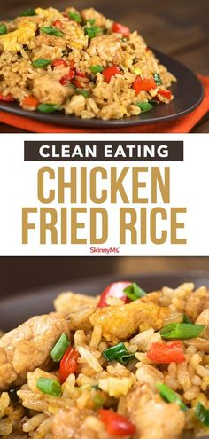 The next time you're tempted to get fattening fried food to-go, pick up the ingredients yourself and cook our Clean Eating Chicken Fried Rice instead. recipes healthy clean eating Clean Eating Chicken Fried Rice - A Healthy Fried Rice Recipe Clean Eating Pizza, Clean Eating Chicken, Clean Eating Snacks, Eating Healthy, Healthy Chicken Recipes For Weight Loss Clean Eating, Clean Foods, Skinny Chicken Recipes, Recipe Chicken, Chicken Rice