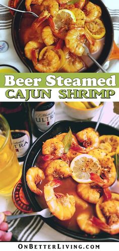 This recipe is low carb, full of protein, spicy and satisfying. And guess what? If you love a beer now and again like I do, you don't have to sacrifice it to maintain a healthy lifestyle. Get the recipe no Cajun Shrimp Recipes, Spicy Recipes, Fish Recipes, Seafood Recipes, Healthy Recipes, Seafood Appetizers, Vegetarian Appetizers, Philippe Rigollot, Eating Clean