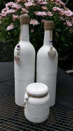 Painting Glass Jars Diy Craft Ideas 44 New Ideas glass jar crafts Glass Bottle Crafts, Wine Bottle Art, Diy Bottle, Beer Bottle, Painting Glass Jars, Bottle Painting, Diy Painting, Altered Bottles, Bottles And Jars