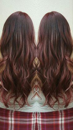 Red hair schwarzkopf 6-88 Balayage  Blonde around face/hairline