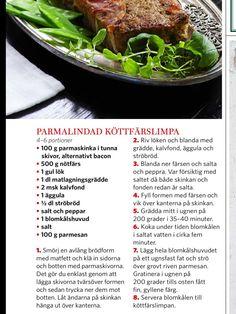 Parmalindad köttfärslimpa