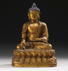 A LACQUERED GILT- BRONZE FIGURE OF THE BHAISAJYAGURU BUDDHA MING DYNASTY, 15TH CENTURY - Sotheby's
