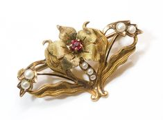 Victorian Gold, Victorian Jewelry, Antique Jewelry, Victorian Era, Gold Flowers, Flower Petals, Art Nouveau Flowers, Art Nouveau Jewelry, Garnet Earrings