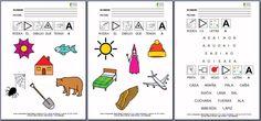 MATERIALES - Chino-chano - VOCALES: A  Conjunto de fichas para el aprendizaje de la lectura y de la escritura.  http://arasaac.org/materiales.php?id_material=986