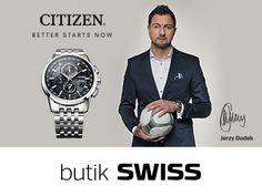 Jerzy Dudek w nowym zegarku zasilanym światłem i sterowanym radiowo: CITIZEN Eco-Drive Radio Controlled (nr ref. 210 826) Swiss Aleja Bielany