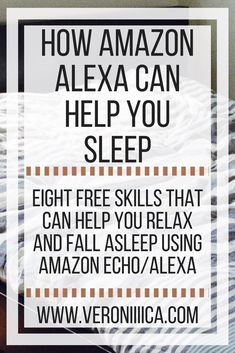 A successful college student with low vision shares 8 ways that she uses Alexa (Echo) to help her sleep. Alexa Dot, Alexa Echo, Alexa Tricks, Alexa Commands, Amazon Alexa Skills, Amazon Hacks, Amazon Gadgets, Latest Gadgets, Smart Home Technology