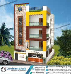 3 storey house plans indian and elevation design kp for 3 floor house elevation designs andhra