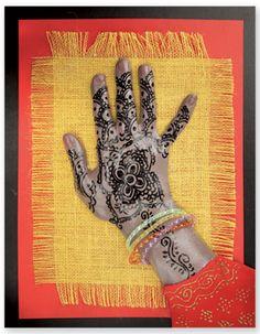 henna hands -use photo