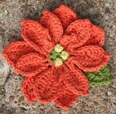 Crochet Flowers: Poinsettia