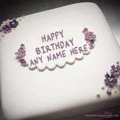 Butter Birthday Cake For Girls With Name