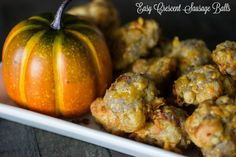 Easiest Crescent Sausage Balls Recipe. 4 Ingredients and 20 minutes is all you need! Perfect for Thanksgiving and Christmas!