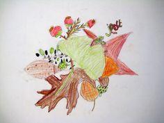 Autumn treasuries. Art lesson for children