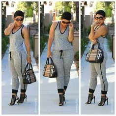 """Hot casual look - a whole new spin on """"sweat pants"""""""