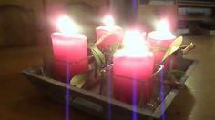 Kerstavond. 24 december 2015.De Adventsschaal met vier Adventskaarsen.