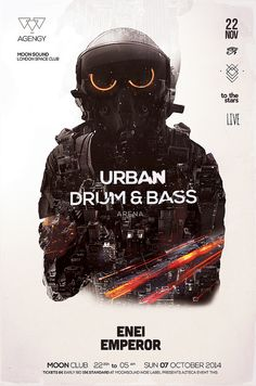 Drum & Bass Poster by Balinisteanu Iulian