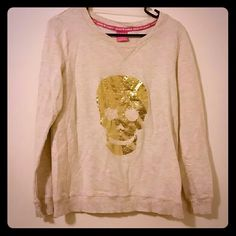 Long sleeve top Long sleeve sequined skull on front with a plain back. Hard Candy Tops Tees - Long Sleeve