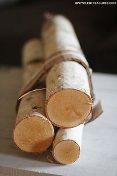 Birch-logs-from-michaels-for-diy-wood-slice-ornaments upcycledtreasures