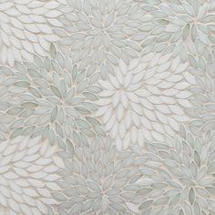 Artistic Tile | Jazz Glass Collection | Estrella Be Bop White Mosaic #tile #glass #mosaic