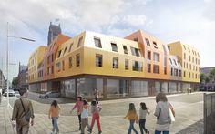 Logements à Saint Denis - AROSTEGUI & ROZE Architecture Logs, Saints, Street View, Architecture, Arquitetura, Architecture Design, Magazines