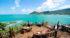 Restaurant of the famous Hotel Panviman in Thong Nai Pan on the east coast of Koh Phangan, Thailand