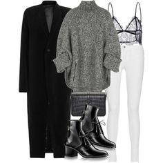 A fashion look from August 2016 featuring Michael Kors sweaters, Rick Owens coats and J Brand jeans. Browse and shop related looks.