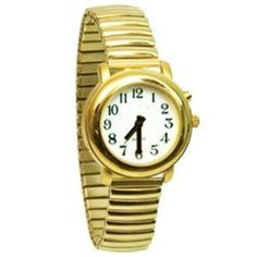 Ladies Deluxe Talking Wrist Watch Gold Tone with Expansion Stretch -- Check out the image by visiting the link.Note:It is affiliate link to Amazon. #tagblender