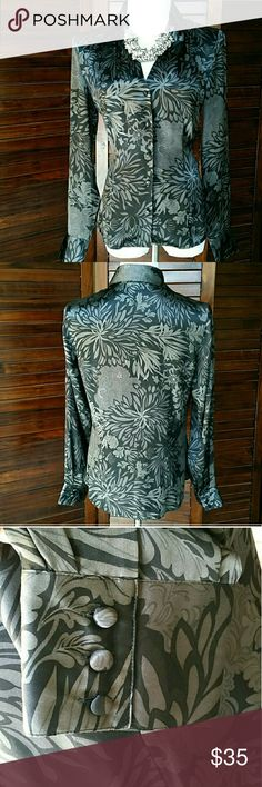 "NWOT Ann Taylor Silk NWOT 100% Silk.  Shimmers in the light and is such a pretty and flattering top.  18.5"" across chest lying flat,  26"" long Ann Taylor Tops Button Down Shirts"
