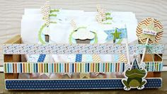 Cupcake Glassine Goody Bags & Altered Crate, by Sheri Feypel.