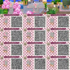 Cherry Blossom Path Animal Crossing New Leaf Qr Code