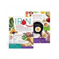 "Discover iron-rich foods and ways to boost iron absorption with the Iron for Strong, Healthy Blood Handouts.  Perfect for WIC participants, the handout also highlights the importance of iron for pregnant women and reasons why young children may have low iron levels. 8 ½"" x 11"", 50 sheets, 2-sided"