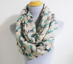 Mint Mini Horse Infinity Scarf Runnning Horse Scarf Brown Horse Scarf Fall Scarf Winter Soft Scarf Large Scarf by dailyaccessoriez on Etsy https://www.etsy.com/listing/157603098/mint-mini-horse-infinity-scarf-runnning
