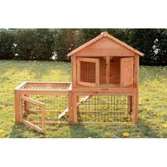 Aosom Rabbit Hutch with Outdoor Run & Reviews | Wayfair