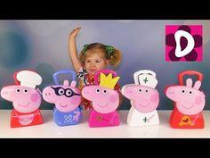 ✿ Свинка Пеппа Обзор на 5 Кейсов Пеппа Принцесса Джордж Пеппа Доктор Peppa Pig Cases New Compilation    {{AutoHashTags}}
