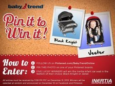 Pin it to Win it! Baby Trend is giving away 5 Inertia infant car seats!