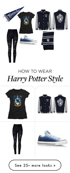"""Ravenclaw outfit"" by emtemple on Polyvore featuring Converse"