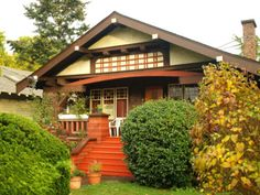 California Bungalow by el dubb on Flickr.  The California Bungalow (house in the Bengal style) is the most popular building style in Fairfield, a predominantly middle-class neighbourhood. Despite Victoria's reputation of looking 'British' or 'European,' most older houses in Oak Bay area are actually American style. The open plan, designed to reduce the distinction between inside and outside space, makes this bungalow attractive to west coast's attitude of casua
