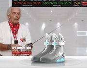 """""""Back to the Future"""" Stars Promote Nike's """"Marty McFly"""" Shoe [VIDEOS]"""