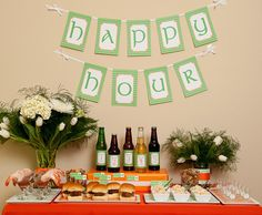 A St. Patrick's Day Party. Probably not something I ever want to do, but it might be adapted into a cool dinner party.