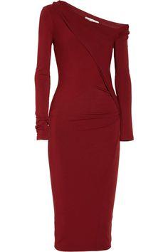 Donna Karan New York | Red Modern Icons Asymmetric Stretch jersey Dress | Lyst