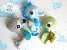 Splash-Sea Animals set of Three PDF sewing by LittleThingsToShare