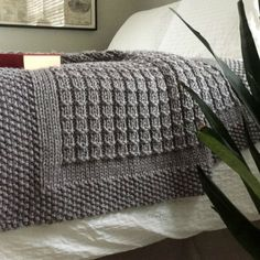 KNITTING PATTERN / Over the Rooftops Blanket / Throw / Afghan
