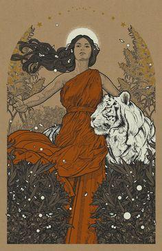 tiger artwork - CoolArt New Art Prints by Richey Beckett Art And Illustration, Illustrations, Pop Culture Art, Psychedelic Art, Aesthetic Art, Art Inspo, New Art, Comic Art, Character Art