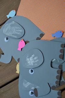 Grether =: Elephant Handprint Craft.