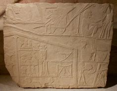 Fragment of a relief: scene of a military camp  New Kingdom, 18th dynasty, around 1340 BC  From Memphis/Saqqara, tomb of Horemheb