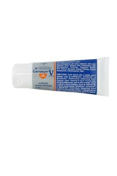Carrington Carrasyn V Hydrogel Wound Dressing (3 oz. tube) by CARRASYN. $18.93. 3 oz. tube of Carrasyn V Hydrogel Carrington Wound Dressing. For the Management of: Diabetic, Foot, Pressure(I-IV), Stasis Ulcers, Post-Surgical Incisions, First and second degree burns & Sunburn, Cuts & Abrasions, Peristomal Skin Conditions,  Radiation Dermatitis